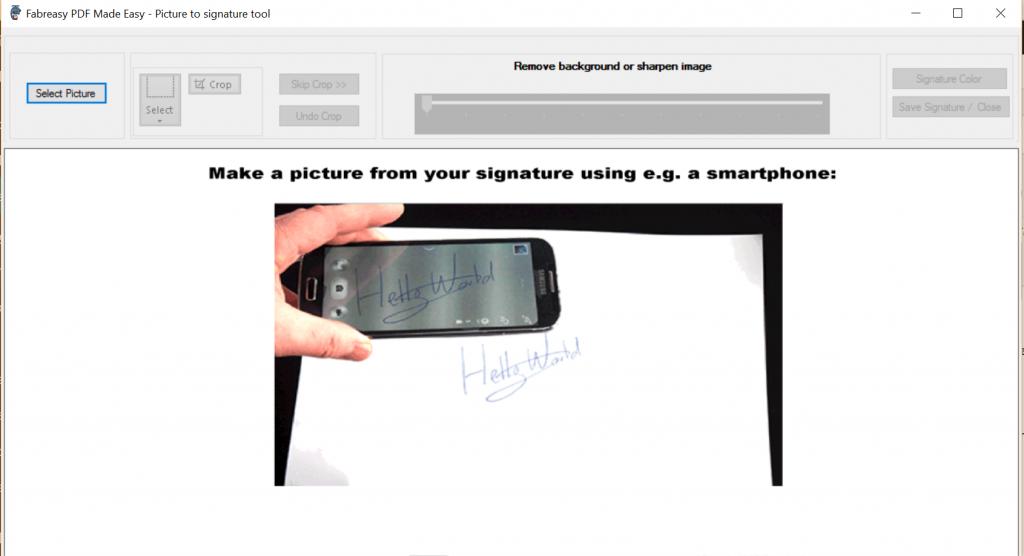 Hantekening toevoegen aan PDF | foto omzetten naar transparant plaatje